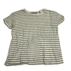 Vince Classic Stripe Relaxed Tee Shirt Blouse Top